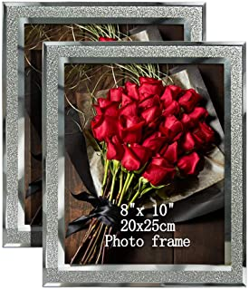 Best Calenzana 8x10 Picture Frames Sparkle Glass Photo Frame, Freestanding, 8 x 10 inch, 2 Pack Review
