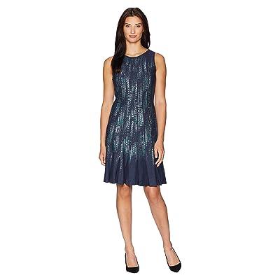NIC+ZOE Lightning Streaks Twirl Dress (Multi) Women
