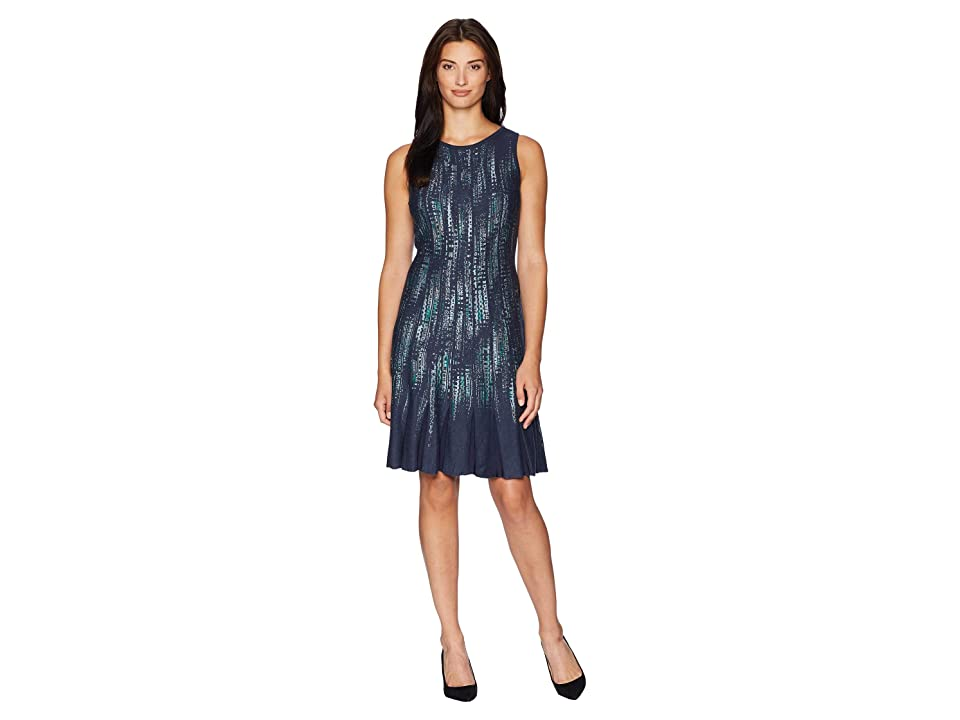 NIC+ZOE Lightning Streaks Twirl Dress (Multi) Women
