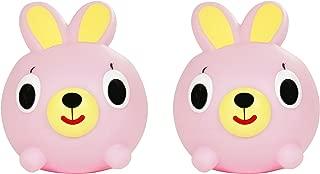 Jabber Ball Oshaberi Doubutsu Talking Animal Ball Borukuma Stress Ball - Pink Bunny - Set of 2