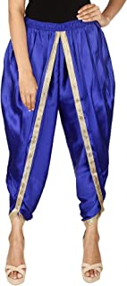 Royal Blue Color Satin Silk Dhoti Pant, Patiala Dhoti Salwar, Dhoti Trousers for Women, Girls