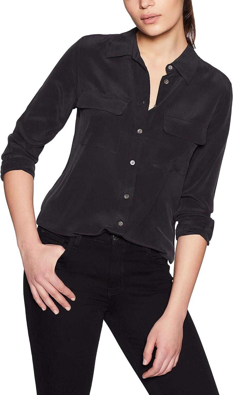 Equipment Women's Slim Signature Silk Shirt Blouse True Black