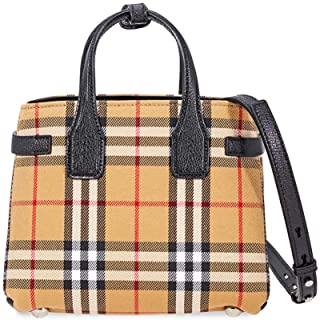 Baby Banner Women's Leather Vintage Check Mini Top Handle Handbag