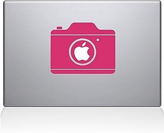 "The Decal Guru 2084-MAC-15P-BG Simple Camera Decal Vinyl Sticker, 15"" Macbook Pro (2015 & older), Pink"