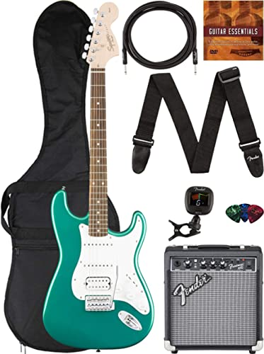 Fender Squier Affinity Stratocaster - Race Green Bundle with Frontman 10G Amplifier, Gig Bag, Instrument Cable, Tuner...