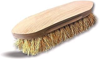 Brosse à crinière et queue en chiendent naturel | Monture bois de hêtre non vernis | Brossage toilettage pansage démêlage...
