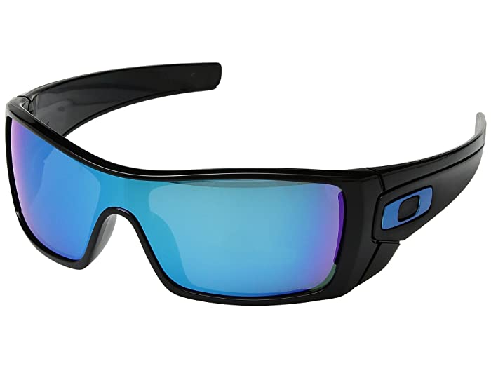 Oakley Batwolf (Polished Black w/ Prizm Sapphire) Sport Sunglasses