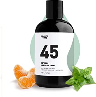 45 Cleansing Body Wash, Shower Gel, Natural Organic and Suitable for All type of Skin for Men and Women 473 ML / 16 FL OZ ...