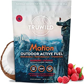 TRUWILD Motion - All Natural Pre Workout Powder Drink Mix for Men and Women - Plant Based Vegan Keto Preworkout Energy Dri...
