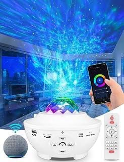totobay WIFI スマートスタープロジェクター プラネタリウム ベッドサイドランプ Bluetooth スピーカー Bluetooth5.0/USBメモリに対応 カラフル(1600万色+白色 ) タイマー機能付き 音声制御 音量/輝度調...