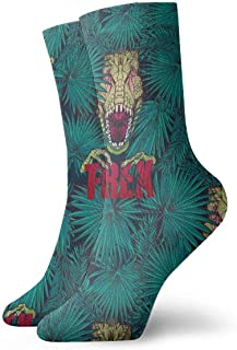 Luxury Calcetines de Deporte Tirannosaurus Rex Pattern Unisex Socks, All-Season Lightweight Ankle Socks Crew Socks