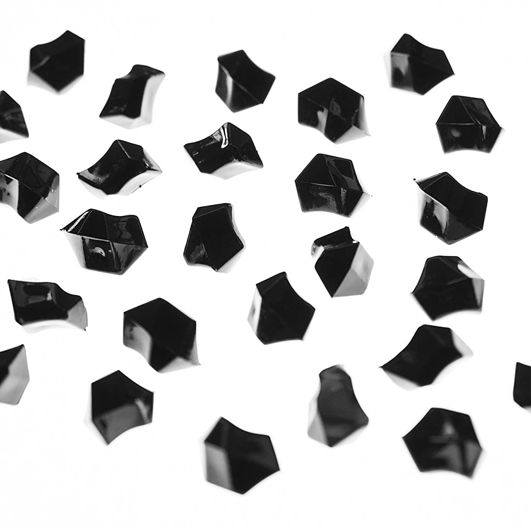Super Z Outlet Acrylic Color Ice Rock Crystals Treasure Gems for Table Scatters, Vase Fillers, Event Decorations, Wedding, Birthday Decoration Favor (190 Pieces) (Black)