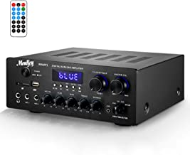 Moukey Bluetooth 5.0 Power Home Audio Amplifier - 220W Dual Channel Sound Audio Stereo Receiver System w/USB, SD, AUX, MIC...