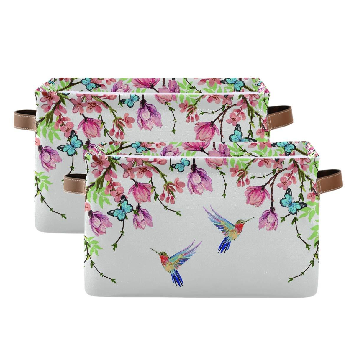 WXLIFE Storage Basket Free shipping on posting reviews Bins Hummingbird Butterfly Animal online shop Flower L