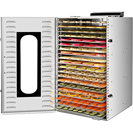 Commercial Stainless Steel Food Dehydrator for food and Jerky 1500W 20 Layers Food Dryer with Digital Adjustable Timer 0-24H Temperature Control Meat Beef Jerky Maker for Dog Treats Fruit Herbs Vegetable