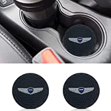 monochef Auto Sport 2.75 Inch Diameter Oval Tough Car Logo Vehicle Travel Auto Cup Holder Insert Coaster Can 2 Pcs Pack Fit Genesis Accessory