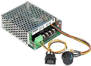 UCTRONICS Stepless DC Motor Controller, DC 10-50V 40A, Motor Speed Controller with Adjustable Potentiometer, Forward-Brake...
