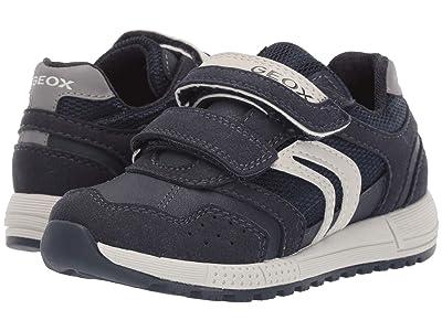 Geox Kids Jr Alben 7 (Little Kid) (Navy/Grey) Boys Shoes
