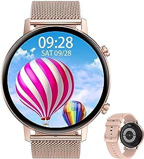 Aliwisdom Smartklocka för män kvinnor barn, 1,3 tum HD rund färgskärm aktivitetsmätare Bluetooth 5.0 fitness sport smartkl...