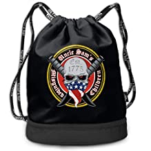 Unisex Uncle Sam's Misguided Children Print Drawstring Bag Tote Gym Sack Cosmetic Bag Backpack Lightweight Bundle Pocket
