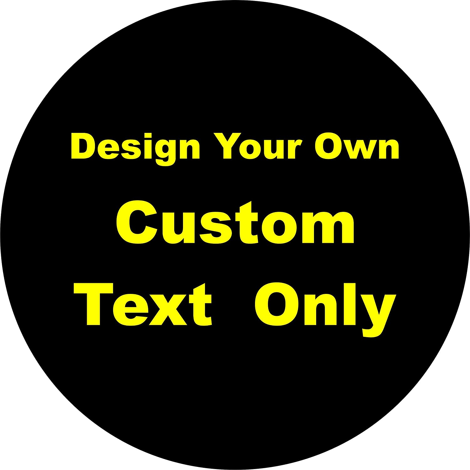 TIRE Some Popular brand in the world reservation COVER CENTRAL Custom Text Only Lettering C Wheel Tire Spare