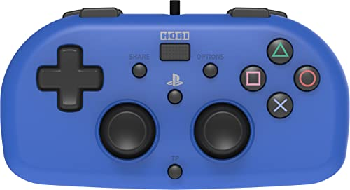 HORI Officially Licensed PlayStation 4: Wired Mini Gamepad - Blue (PS4)