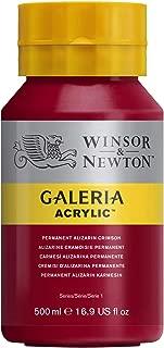 Winsor & Newton 500ml Bottle Galeria Acrylic Colour with Nozzle Cap - Permanent Alizarin Crimson