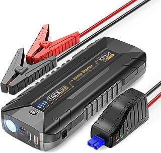 TACKLIFE KP200 2000A - Arrancador de Coche para Todo vehículo de Gasolina o de Diesel 7.000cc, 12V Arrancador de Baterias con Luz LED, Carga Rápida, Cable de Puente Inteligente