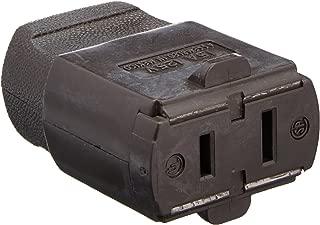 Leviton 102-P 15 Amp, 125 Volt, Cord outlet, Polarized, Non-Grounding, Brown