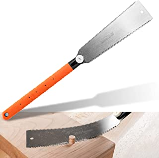 Japanese Saw 22-1/2 Hand Ryoba Pull Saws Flexible Double Edge 10 in Blade Impulse Hardened Steel Teeth for Woodworking