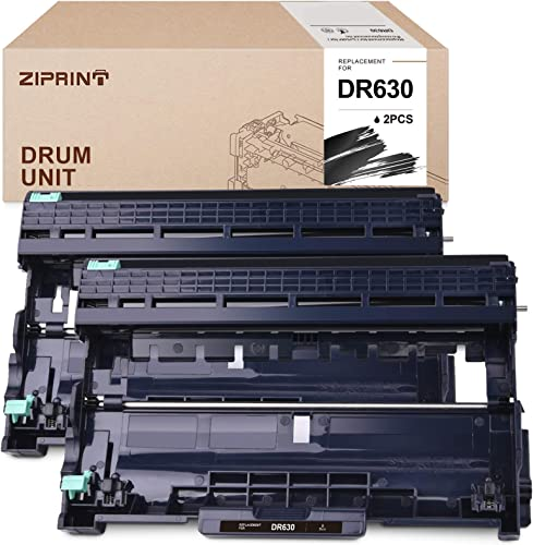 popular ZIPRINT outlet sale Compatible Drum Unit Replacement for Brother sale DR630 DR-630 to use with HL-L2380DW DCP-L2540DW HL-L2300D MFC-L2740DW HL-L2340DW HL-L2360DW DCP-L2520DW Printer (2 Drum Units, Black) outlet sale