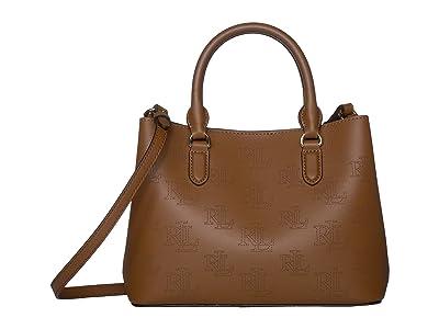 LAUREN Ralph Lauren Marcy II Mini Satchel (Field Brown/Black) Satchel Handbags