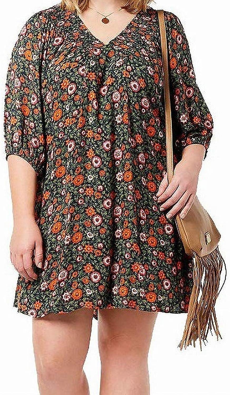 Eyeshadow Trendy Plus Size Smocked Peasant Dress