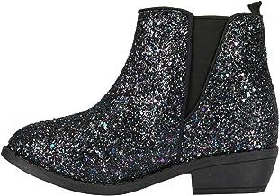 girls black sparkle boots