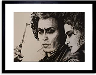 SWEENY TODD JOHNNY DEPP FRAMED ART PRINT BY W.MAGUIRE F97X12467