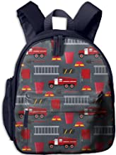 SARA NELL Kindergarten Backpack Firefighter Profession Equipment And Tools Children School Bag