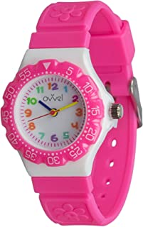 Ovvel Kids Watches, Wrist Watch for Little Girls, Beautiful & Adorable Time Teacher Watch, Innovative Easy–to–Read Design with Japanese Movement & Sony Battery, Gift for Little Girls