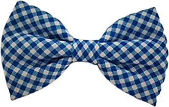 Navy Blue Gingham - Dog Cat Pet Bow Tie Bowtie Collar Accessory for Large Dogs Handcrafted Bow Tie
