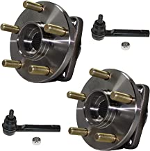 Detroit Axle - Both (2) Front Wheel Hub Bearings and (2) Outer Tie Rods for 09-14 Subaru Forester - [08-14 Impreza] - 05-14 Legacy - [05-14 Outback] - 13-14 XV Crosstrek