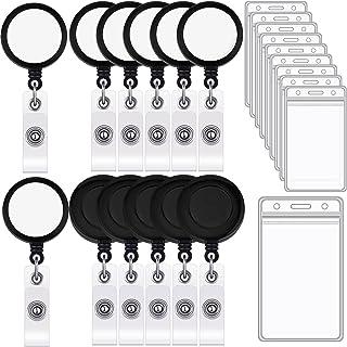 Set de 72 Porte-Badge de Sublimation, Comprenant 24 Bobine de Badge Rétractable 24 Plaques d'Aluminium de Sublimation Adhé...