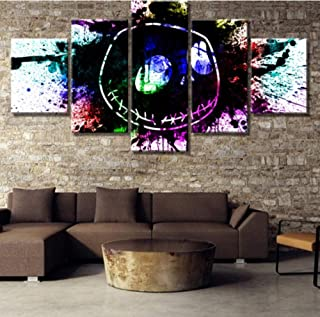 FEISENWLH Paintings on Canvas Wall Art for Home Decorations Wall Decor 5 Piece HD Print Large Nightmare Before Christmas Modern Decorative-UnFramedL