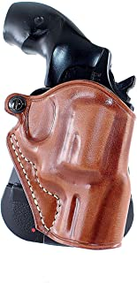 Premium Leather OWB Paddle Holster Open Top Fits Colt Detective Revision 3 38 Special 2''BBL, Right Hand Draw, Brown Color #1437#