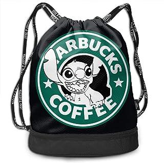 randonn/ée sac /à bandouli/ère pour homme et femme ordinateur portable NJIASGFUI Sac /à dos en toile Lilo et Stitch Starbucks Coffee Logo Sac /à dos de gym