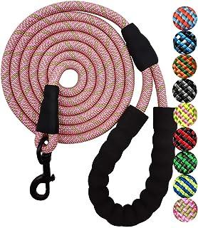 "YUCFOREN 5FT/7FT/8FT/10FT Heavy Duty Rope Dog Leash, 1/2"" Diam Strong Climbing Nylon Medium Large Dog Leash with Soft Hand..."