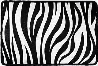 Pensura Zebra Pattern with Entryway Floor Door Mats Indoor/Outdoor Doormat Home Decor Door Front Rubber Carpet