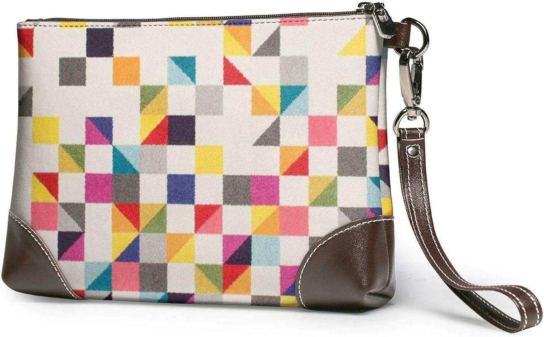 Triangle Geometric Clutch SALENEW very popular! Purses Wristlet Wallet Leather Max 65% OFF