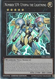 Yugioh Limited Ed Number S39: Utopia the Lightning TDIL-ENSE2 Super Rare Limited Edition The Dark Illusion Cards