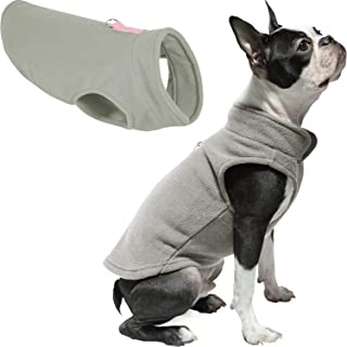 Gooby Every Day Fleece Cold Weather Dog Vest for Small Dogs, Small, Gray