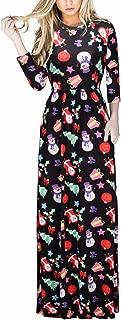 Women's Christmas Dress Xmas Christmas Print Party Ugly Christmas Long Maxi Dress