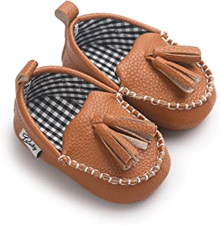 Newborn Infant Baby Girls Boys Tassels Soft Sole Penny Loafers Shoes Prewalker Moccasin